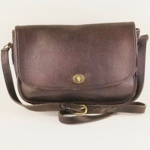 Vtg Coach City Leather Crossbody Bag Made in USA